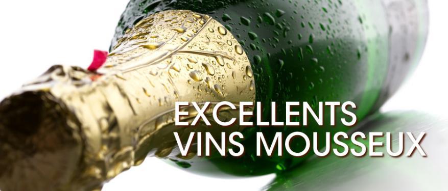 Excéllents vins mousseux