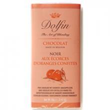 Pure chocolade met gekonfijte sinaasappelschil