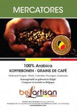 Mercatores koffiebonen label