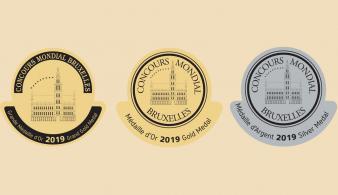 Concours Mondial de Bruxelles medailles 2019 Aigle Suisse