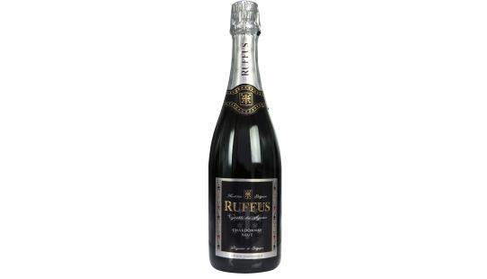 Vignoble des Agaises Cuvée Seigneur Ruffus brut bouteille de vin avec étiquette