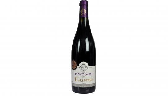 Pinot Noir Chapitre wijnfles met etiket voorkant