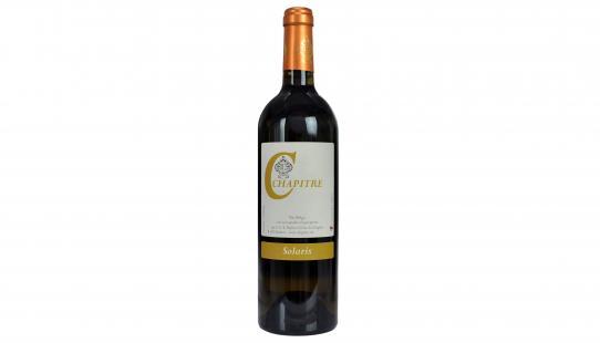 Solaris Chapitre bouteille de vin avec étiquette