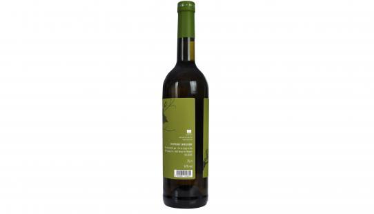 A Capella Vin De Liège etiket achterkant wijnfles