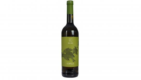 A Capella Vin De Liège wijnfles met etiket voorkant