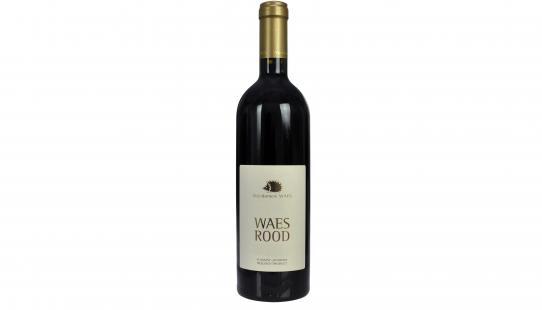 Waes Rood - Rouge bouteille de vin avec étiquette