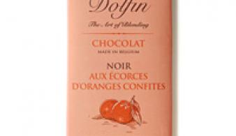 Chocolade met gekonfijte sinaasappelschil